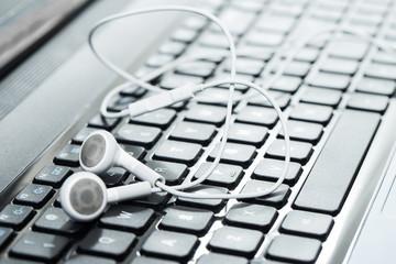 Laptop with headphones