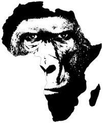 Africa with gorilla face