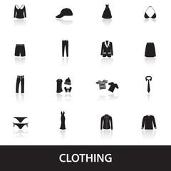 clothing icons eps10