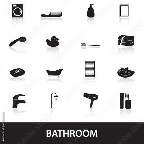 bathroom icons eps10