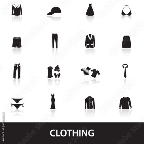 clothing icons eps10