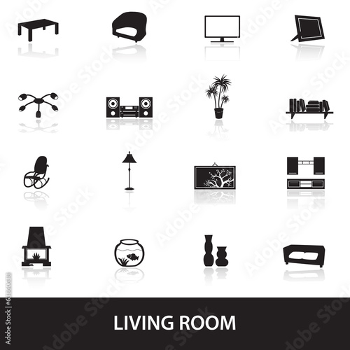 living room icons eps10