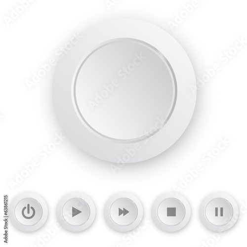 Media player white push button