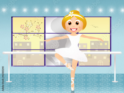 girl in ballet school