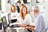 Teamwork at graphic design studio
