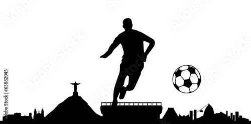 Skyline Rio de Janeiro Fussball