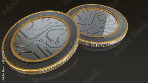 The metal digital currency coin