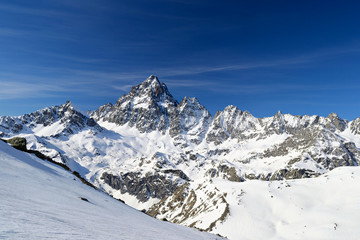 High mountain peak