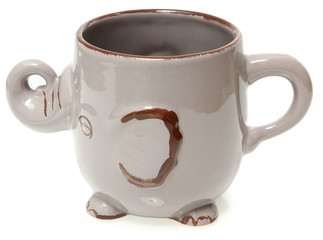 Elephant Coffee Mug Over White