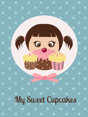 girl and cupcakes
