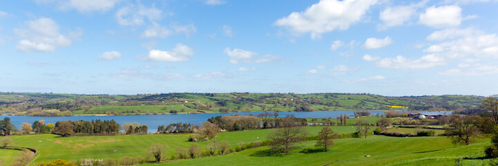 Panoramic view Blagdon Lake Somerset England UK Bristol