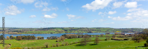 Panoramic view Blagdon Lake Somerset England UK Bristol