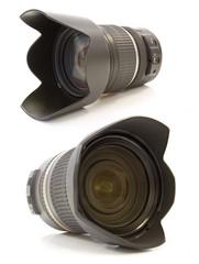 Professional lens on white