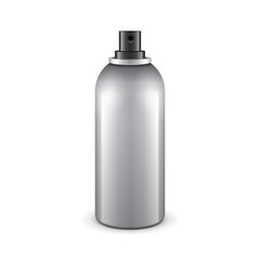 Gray Aerosol Spray Metal 3D Bottle Can: Deodorant, Graffiti