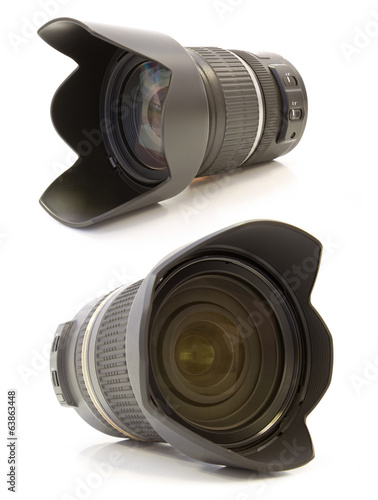 Professional lens on white