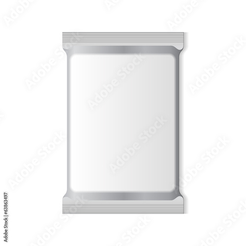 White Blank Foil Packaging Plastic Pack