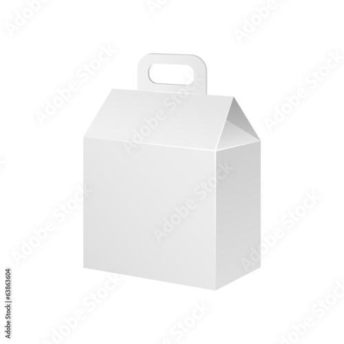 White Cardboard Carton Product Gift Box With Handle