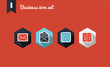 Business marketing flat icons set