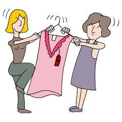 Women Fighting Over Dress