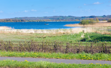 Chew Valley Lake and reservoir Somerset England uk