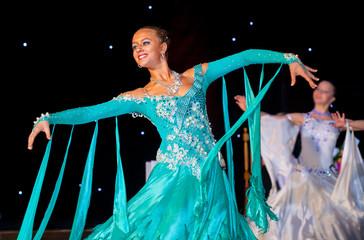 Female dancer performs