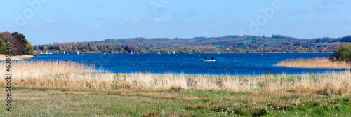Chew Valley Lake and reservoir Somerset England uk panorama