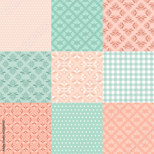 Collection floral pattern for scrapbook.