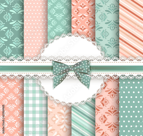 Collection floral pattern for scrapbook