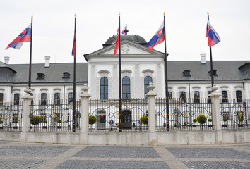 Palace in the city of Bratislava, Slovakia, Europe