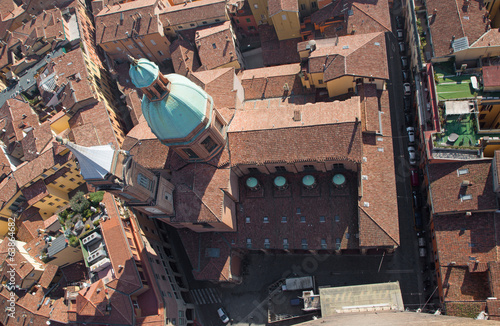 Bologna - Look from Torre Asinelli to church of st. Bartolomeo