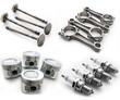 Set of auto parts. Isolated on white background - 63864850