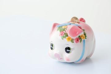 ブタの貯金箱