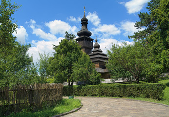 St. Michael's wooden church in Uzhhorod, Ukraine