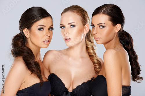 Three sensual beautiful young women