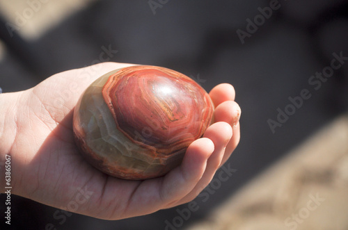 Easter egg made of Jasper