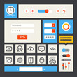 Web interface template. Flat design
