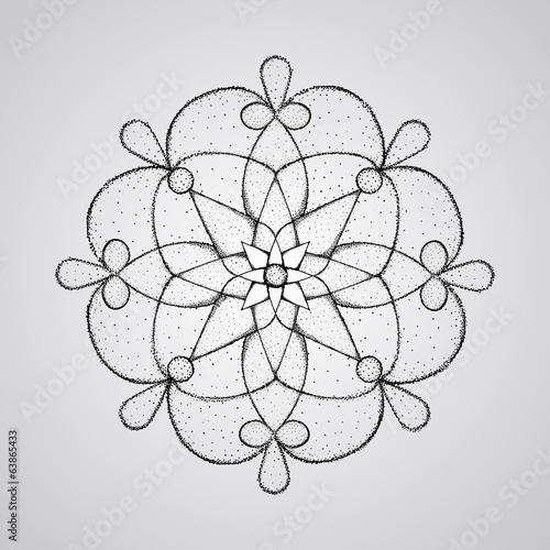 vector Hand-drawn mandala