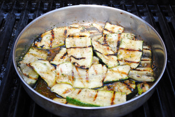Marinating Grilled Zucchini