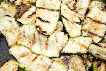 Close-Up of Marinated Grilled Zucchini