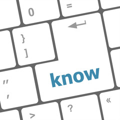 know knowledge or education concept button on computer keyboard