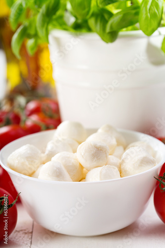 bowl of mozzarella