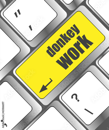 donkey work button on computer keyboard key