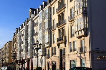 old houses in the city of Santander in Spain