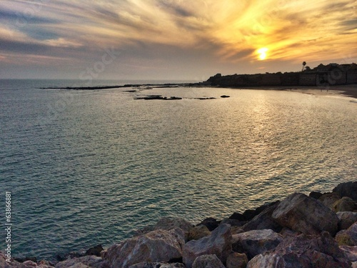 Beautiful sunset in Cadiz, Spain