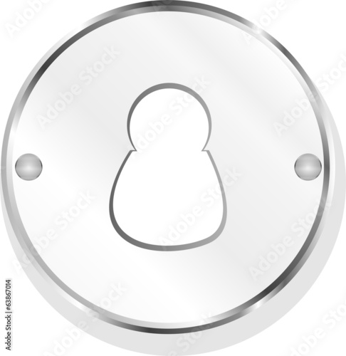 Male blue signs. web icon button isolated on white