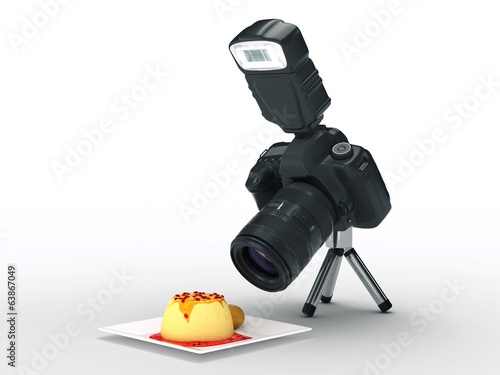 photo camera and food