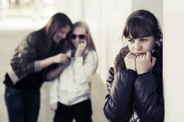 Teenage girls in conflict