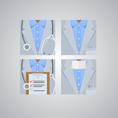 Flat icons for doctor