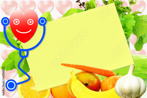 sticky note paper for heart and health related note and list