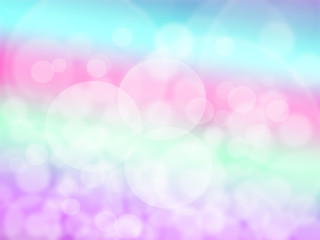 abstract rainbow background with white circles.